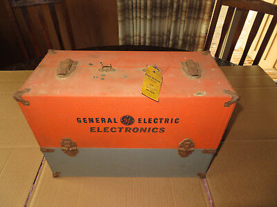 Vintage General Electric Repairman Case with Tubes, Tools, Test Equipment