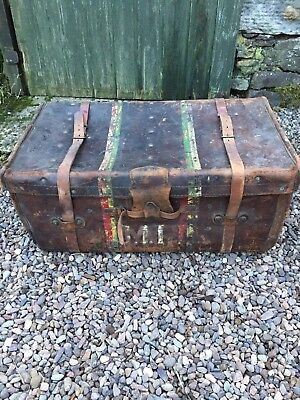 Antique All Leather Shipping Trunk
