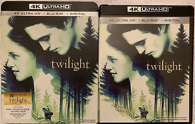 Twilight 4K Ultra Hd Blu Ray 2 Disc Set + Slipcover Sleeve Free World Shipping