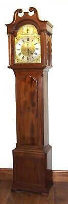 Antique Musical Tube Quarter Chiming Mahogany Longcase Grandfather Clock WORKING