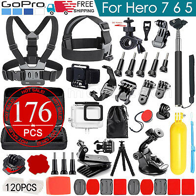 Accessories Pack Chest Head Diving Waterproof Housing Case for GoPro Hero 7 6 5