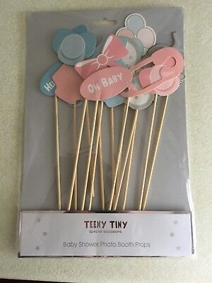 14 pack - Photo Booth Props Baby Shower New Born Party Photography Kit Boy/Girl