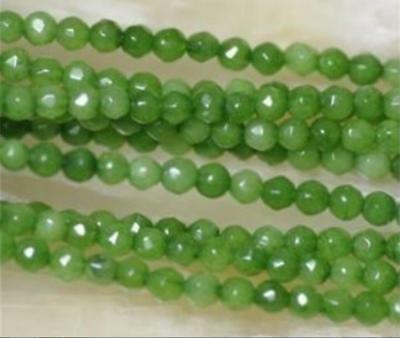 Wholesale 5 Strands 4mm Faceted Green Peridot Round Gemstone Loose Bead 15""