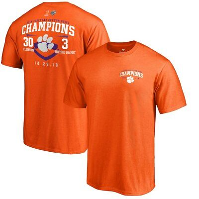 NCAA 2018 Clemson Tigers Cotton Bowl Champions Men's Playoff Score Tshirt