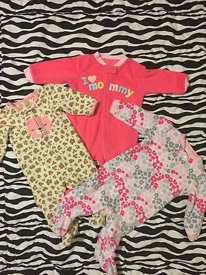 Baby Girls Sleepers 3-6 Month