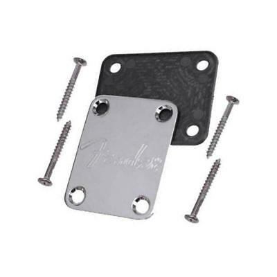 Electric Guitar Neck Plates with 4 Screws for Fender Strat Tele Parts Black