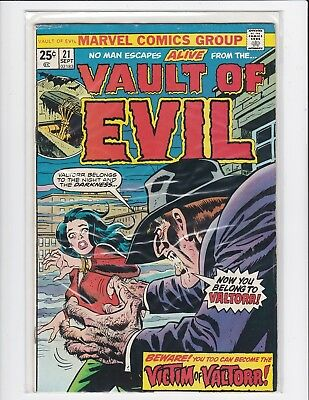 Vault of Evil #21 - Steve Ditko - Marvel - 1974 - Fine/Very Fine