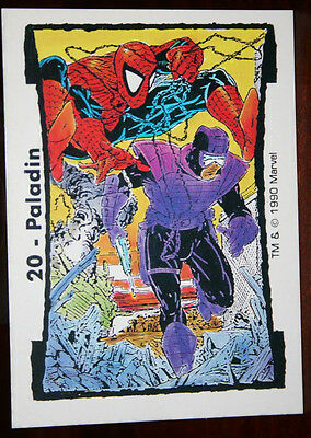 #20 PALADIN (Spider-Man) Marvel TODD McFARLANE Series II Trading Cards (1990)