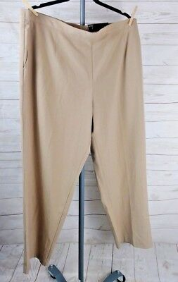 5cd0a5ab973a1 George women s pull on dress pants 3X(22W-24W) Camel flat front NWT