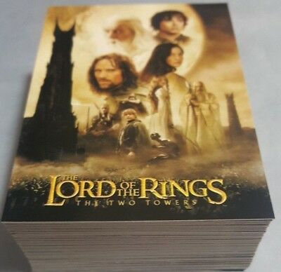 TOPPS 2003 LORD OF THE RINGS LoTR THE TWO TOWERS COMPLETE 72 CARD UPDATE SET