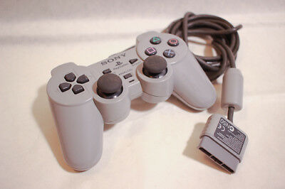 PS1 Sony Official Controller DualShock SCPH-1200 Analog Gray PlayStation #2