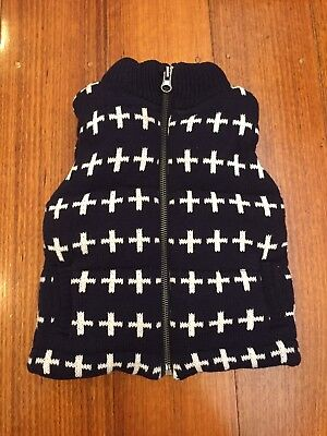 Seed Heritage Baby Toddler Knit Puffer Vest Navy Size 9 - 18mths