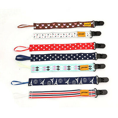 Baby Kids Chain Clip Holders Dummy Pacifier Soother Nipple Leash Strap#4