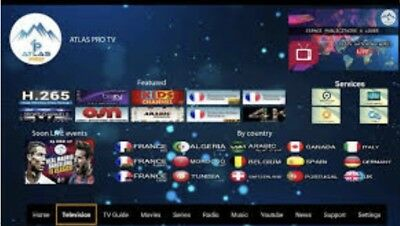 👍atlas Pro Ontv  Ultimate 12Mois New Version M3U Ios Mag Box Tv Android Tv 👍