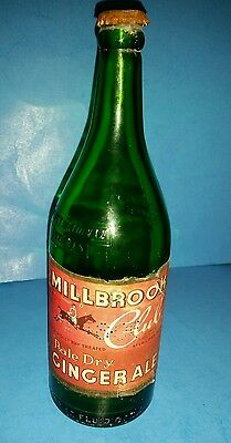 Millbrook Club Pale Dry Ginger Ale Bottle 1 Pint 12 Oz First National Stores
