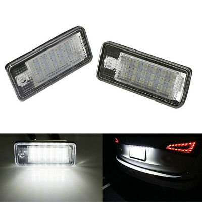 2LED License Number Plate Light No Error For Audi A3 8P RS3 A4 S4 A6 S6 4F A8 Q7