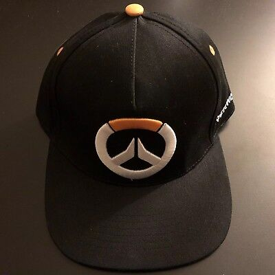 NEW NWT Tracer Overwatch Bioworld Snapback Hat Cap Gaming Blizzard Black 🎮 92efe294afeb