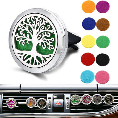 Tree of Life Essential Oil Car Air Vent Freshener Diffuser Aromatherapy Locket