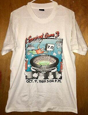 Battle of the Bay L I Survived Game 3 1989 Earthquake SF Bay Area WORLD SERIES