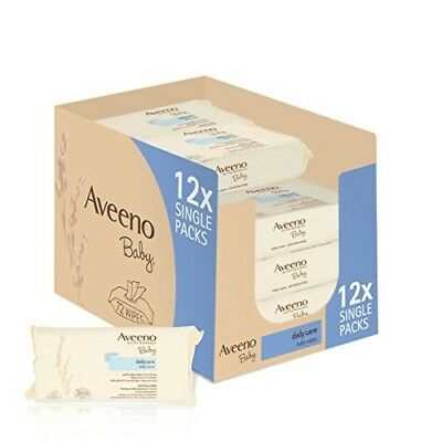 Aveeno Baby Wipes (Daily Care) - Pack of 12 (864 Wipes In Total)