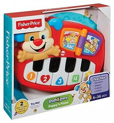 Fisher-Price Puppy's Piano, Baby Electronic Educational Toy with Words, Letters,