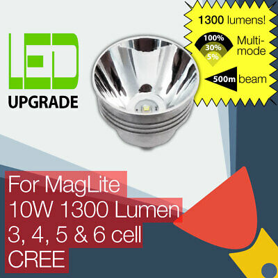 MagLite LED Conversion Upgrade bulb 1000LM Torch Flashlight 3 4 5 6 D Cell CREE