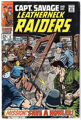 Captain Savage and His Leatherneck Raiders #6, Very Good - Fine Condition