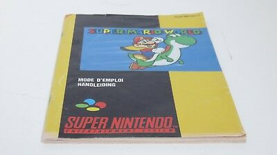 Super Mario World - SNES manual only