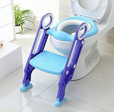 KEPLIN Potty Toilet Seat Adjustable Baby Toddler Kid Toilet Trainer with Step St