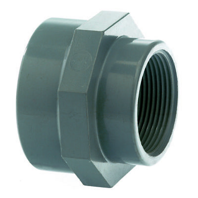 PVC Reducing Socket BSP. Threaded Coupling - Industrial Pressure Grade Plastic