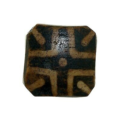 "(0415) Antique Opalised Palmwood Tabular ""Pumtek"" bead, Burma"