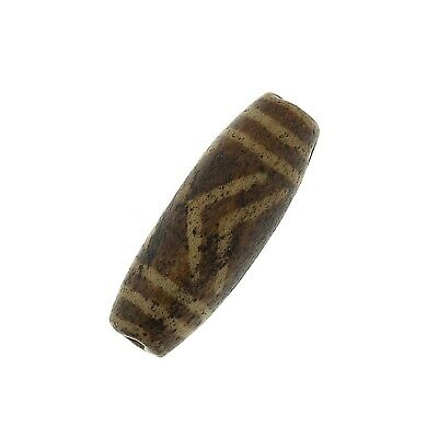 "(0652) Antique Opalised Palmwood ""Pumtek"" bead, Burma"