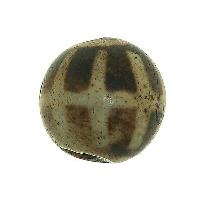 "(0522) Antique Opalised Palmwood ""Pumtek"" bead, Burma"