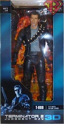 """T-800 Terminator 2 Judgment Day 3D 1/4 Scale 18"""" inch Action Figure Neca 2017"""