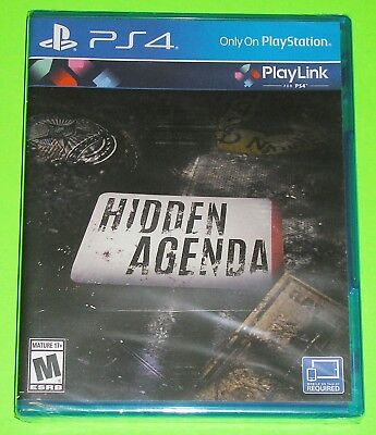 Hidden Agenda (Sony PlayStation 4, 2017) PlayLink for PS4 Mobile/Tablet Required