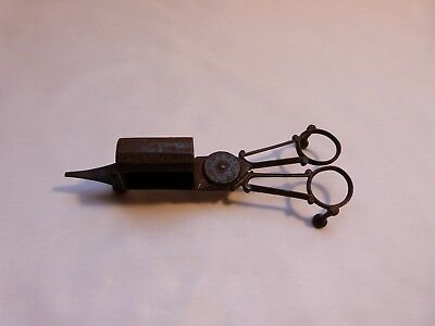 Victorian steel candle wick snuffer trimmer scissors