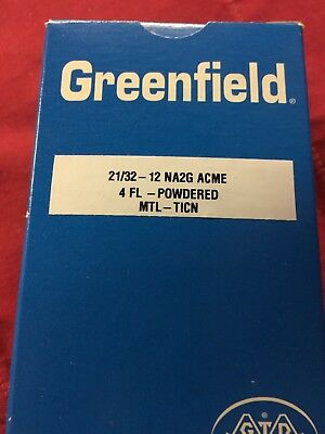 6-NEW- 21/32-12 (NA2G) ACME THREAD TAP 4 Flute TICN Greenfield USA