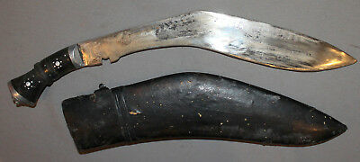 Vintage Hand Made Gurkha Afghan Kukri Knife With Scabbard