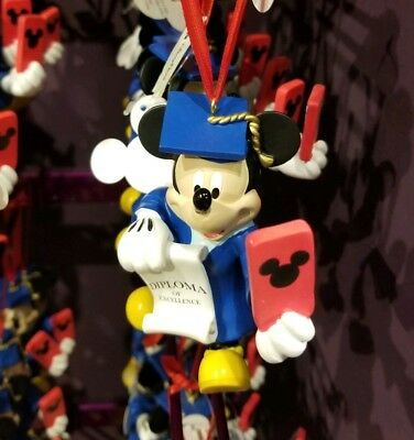 Disney Parks Mickey Mouse Graduation Christmas Ornament Holiday Graduate
