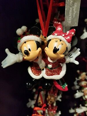 Disney Parks Mickey Mouse and Minnie Mouse Christmas Ornament 2018 Holiday