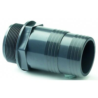 "PVC Hose Tail Adaptor Male BSP Threaded.  Industrial Grade 1/2"" To 2"" BSP"