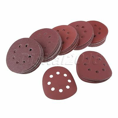 "125mm 5"" Abrasive Polishing Sanding Discs 6Pcs For Orbital Sander 40 - 600 Grit"