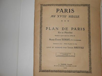 Plan de Paris dit de Turgot (édition de 1908)