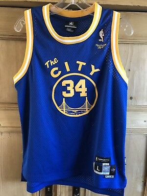 Reebok Golden State Warriors Mike Dunleavy The City 34 Jersey Youth Large +2 08b569eaf