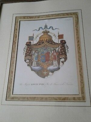 Collectible French Royal Coat of Arms Picture