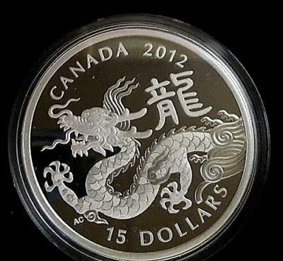 Year of the Dragon - 2012 Canada $15 Fine Silver Lunar Coin - Sale