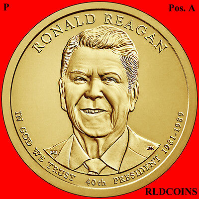 2016 P Pos. A President Ronald Reagan Uncirculated Presidential Dollar