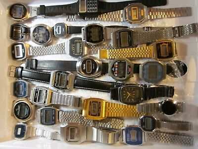 Vintage LCD LED Uhr Watch TIMEX CITIZEN BELTIME PIRATRON MEISTER ANKER MBO