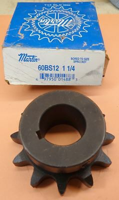 "MARTIN  60BS12 1 1/4 Finished Bore Sprocket 12 TEETH 1 1/4 "" BORE"