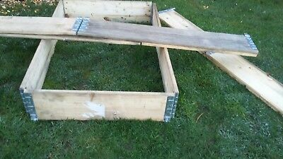 Wooden Euro Pallet Collars 1200 mm x 800 ideal for allotments or raised beds